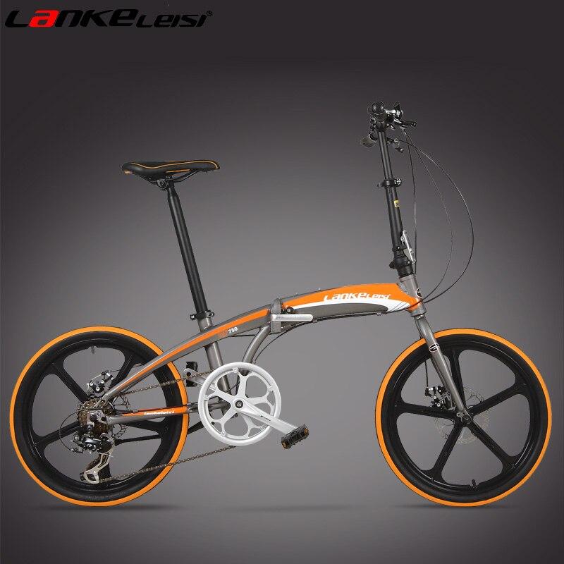 High Quality 20 Inch font b Folding b font Bike Front Rear Disc Brake Portable font