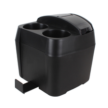 Multifunctional Car Styling Black Cup Holder Drink Bottle Can Auto Trash Dustbin Tissue Clip