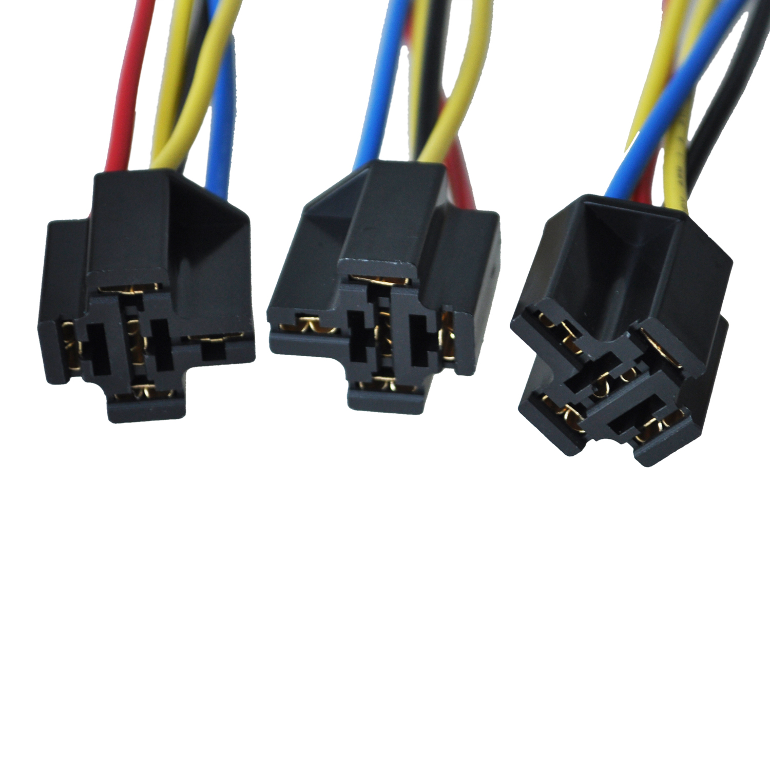 5 Pcs 5 Pin Wires Cable Relay Socket Harness Connector Dc