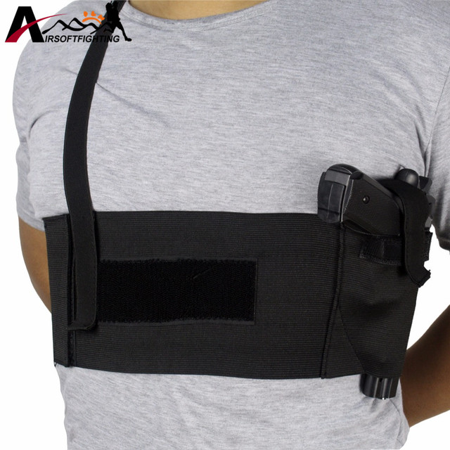 US $8 18 43% OFF|Tactical Adjustable Belly Band Waist Pistol Gun Holster  Belt Girdle Deep Concealment Shoulder Holster Underarm Pistol Gun Pouch -in