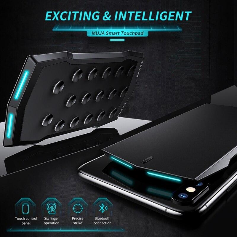 Trackpad intelligent pour contrôleur Pubg jeu déclencheur manette Mobile manette Bluetooth à Six boutons pour télécommande IOS Android