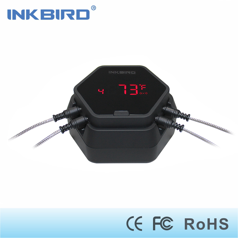 Inkbird IBT-6X digital Wireless Bluetooth Thermometer BBQ for cooking Grilling Oven meat boiling with 4 stainless probes цена