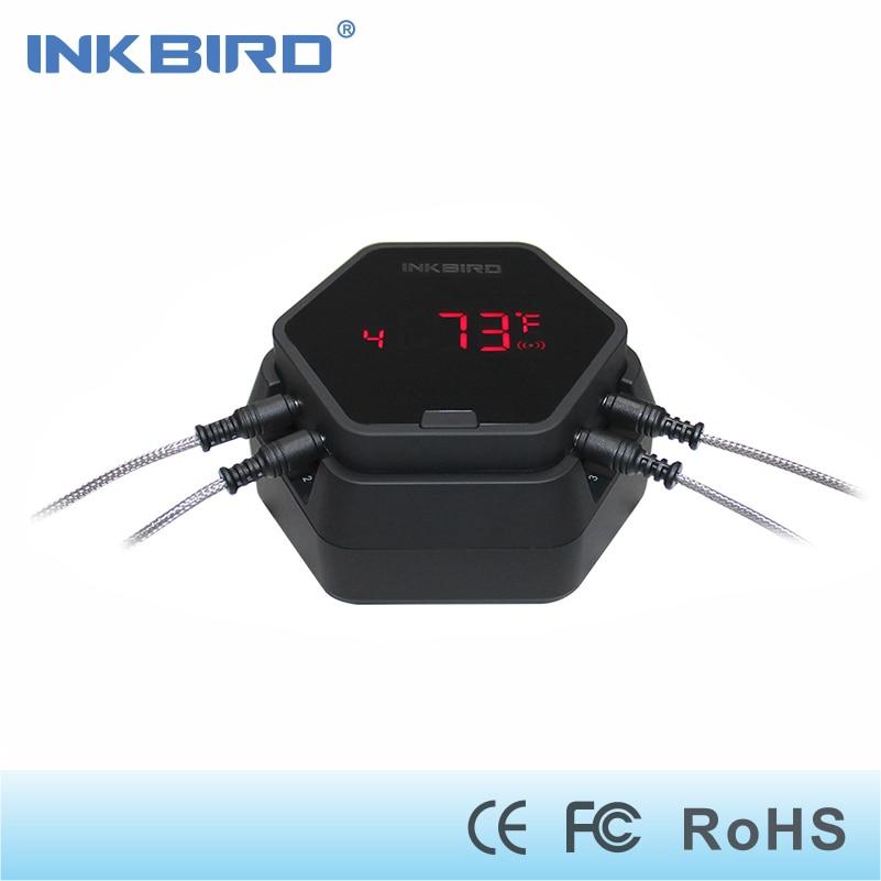 Inkbird IBT-6X numérique Sans Fil Bluetooth Thermomètre BARBECUE pour la cuisson Griller Four la viande d'ébullition avec 4 inoxydable sondes