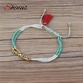 Shinus Bohemian Style Adjustable Tassel Bracelet For Men And Women Jewelry Couple Bracelet Maxi Gift HB537 Z5