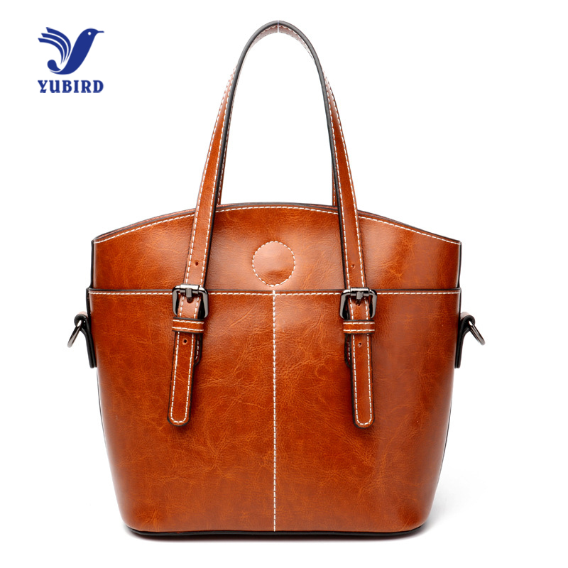 YUBIRD Vintage Women Genuine Leather Handbags Tote First Layer Women over the Shoulder Bags Women s