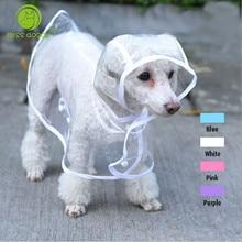 2015 Fashion Pet Dog Rain Coat Jacket Clothes Dogs Waterproof Cloak Puppy Raincoat Rainsuit Chihuahua Transparent 5 Colors