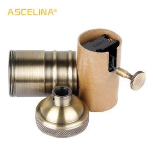 Image 5 - ASCELINA בציר מנורת בסיס הולם E27 שקע בסיס DIY led מנורת בעל תאורת אביזרי עבור נברשות אור הנורה שקע