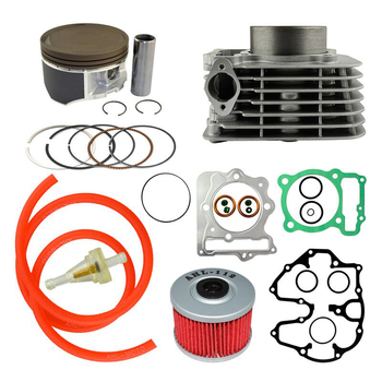 AHL Bore Size 85mm Air Cylinder Block & Piston Rings & Gasket & fuel Oil Tube & Oil Fuel Filter Kit For Honda XR400 1996-2004