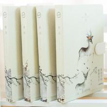 Cahier à couverture rigide Dream et cerf fournitures scolaires bouton magnétique bloc notes carnets de voyageurs A5 journal de ligne horizontale créative