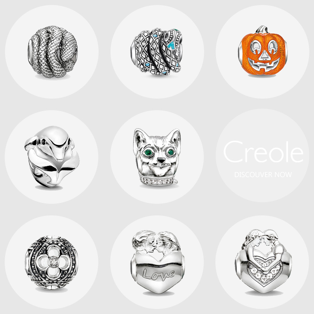 Snake Pumpkin Dolphin Cat Clover Lover Charm Beads,2019 New Trendy Fashion 925 Sterling Silver Jewelry Gift For Women Man