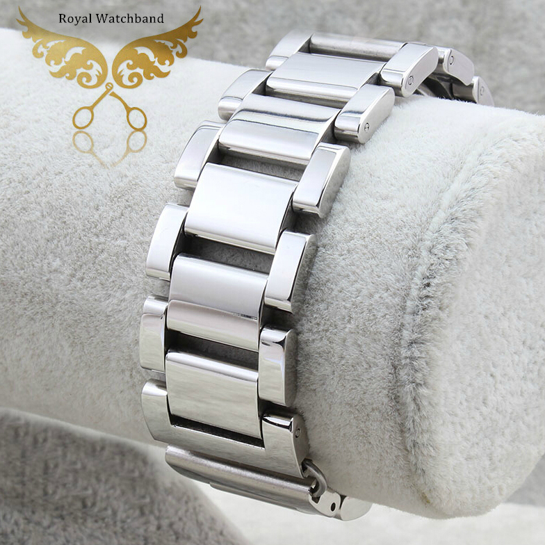 18mm 20mm 21mm 22mm New Mens Solid Stainless Steel Rose Gold Silver Metal Watch BAND Bracelets Free shipping solid scrub stainless steel brushed black gold silver rose gold finished watch band clasp buckle watchbands 16 18 20mm 24mm 26mm