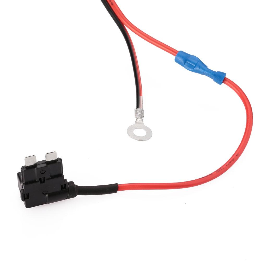 1 м 1,5 мм DC12V машинная Зажигалка для сигарет розетка с внутренней резьбой кабель УВД держатель предохранителя