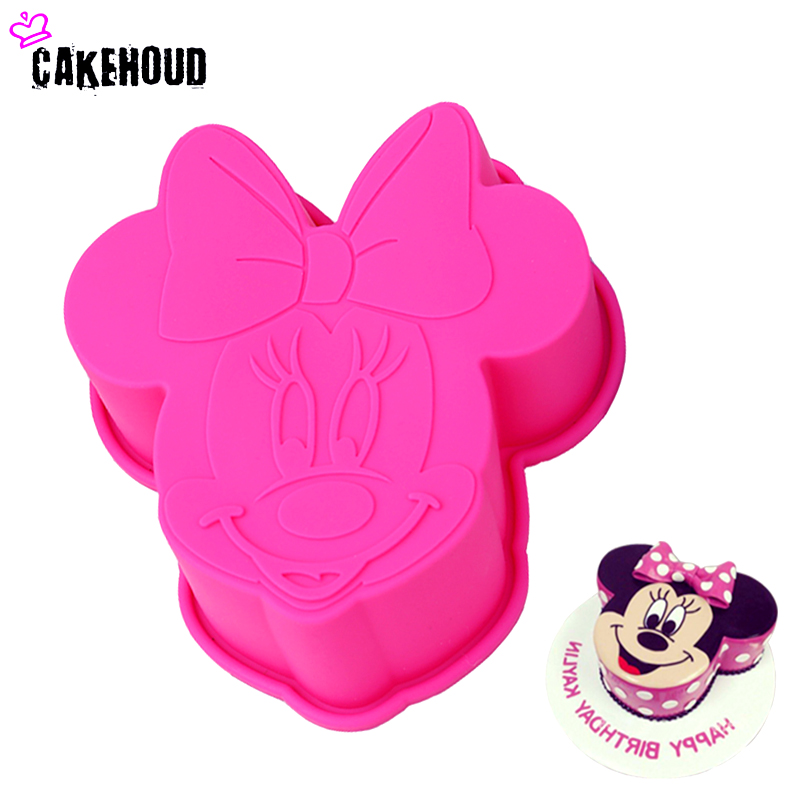 CAKEHOUD Cartoon 3D Minnie Mouse Styling Silicone Mold Fondant Chocolade Pudding Candy Jelly Schimmel Taart Decoratie Bakken Tool