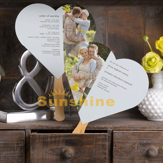 Cheap Wedding Programs.Heart Custom Wedding Programs Fans Handmade Party Engagement