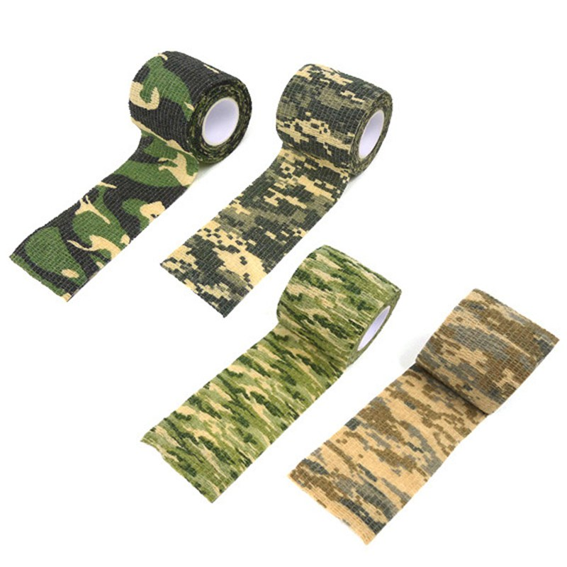 1 Rolls Self-adhesive Non-woven <font><b>Bike</b></font> <font><b>Stickers</b></font> <font><b>Camouflage</b></font> Wrap Rifle Hunting Shooting Cycling Tape Waterproof Camo Stealth Tape image