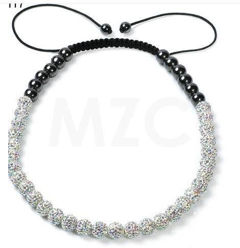 New Style!Free Shipping! 10mm Micro Pave Disco Ball Beads white crystal necklace crystal for Women.best Rhinestone jewelry!