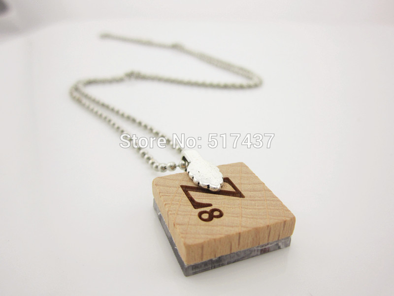 fashion necklaces for women 2014 - Scrabble Necklace- Alcott Book Quote - Silver Ball Chain Included,Scrabble Necklace