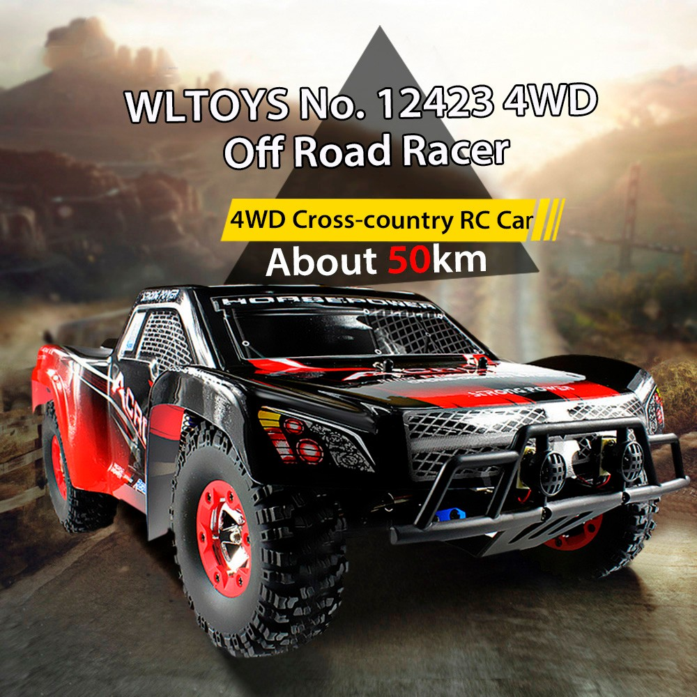 Original WLtoys 12423 RC Car 1 / 12 2.4GHz High Speed 4WD Remote Control Car Simulate the Structure and Control wltoys k969 1 28 2 4g 4wd electric rc car 30kmh rtr version high speed drift car