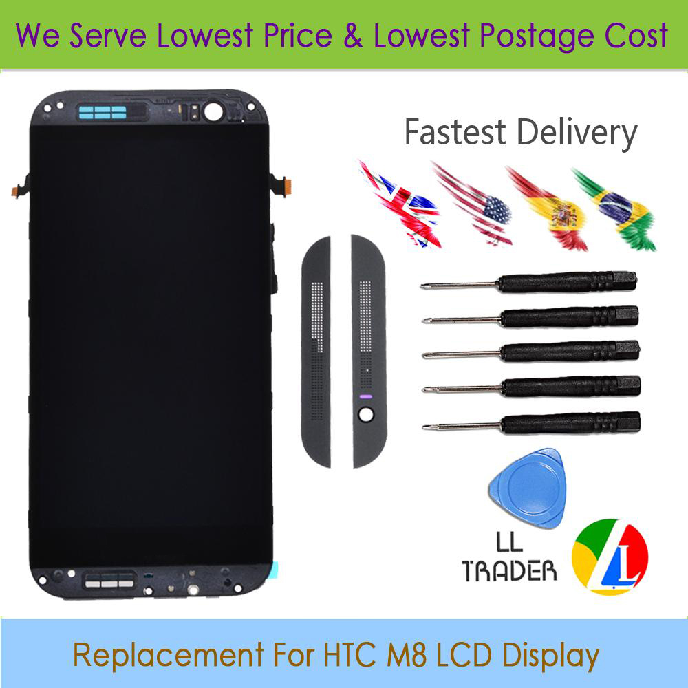 Подробнее о LL TRADER Highscreen Black Full LCD Replacement For HTC One M8 LCD Display Touch Screen Assembly Digitizer With Frame+Free tools ll trader highscreen 100% tested lcd screen for sony xperia z2 lcd display d6503 touch digitizer assembly full replacement parts