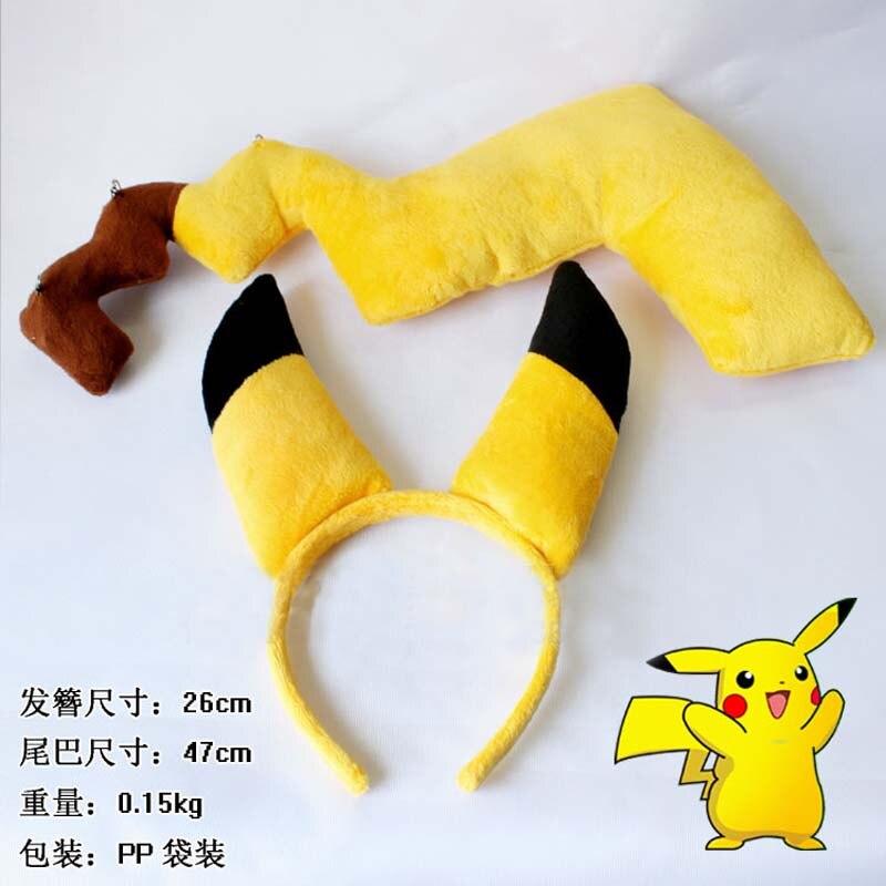 Search For Flights Pokemon Pikachu Ears Tail Headband Japan Anime Sex Pikachu Costume Cosplay Kigurumi Pajamas Cartoon Ears And Tails Prop Set Boys Costume Accessories Costumes & Accessories