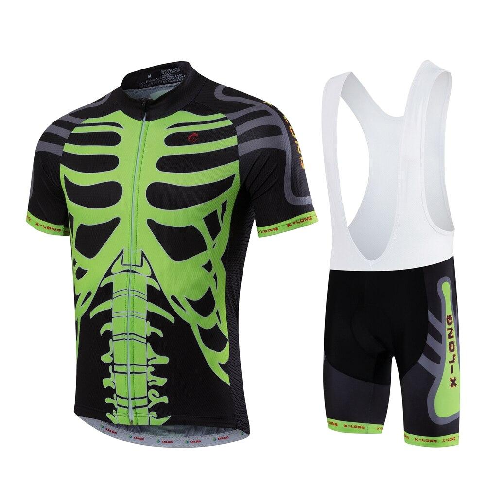 ᗐHombres Ciclismo ropa verano bicicleta Jersey BiB Pantalones ...