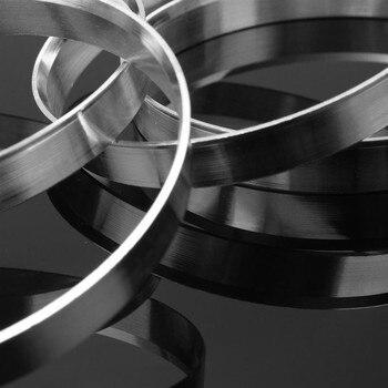 1 مجموعة 57.1 ملليمتر ID إلى 72.56 ملليمتر OD 4 قطع الألومنيوم تتمحور حنفية محور خواتم عجلة فاصل