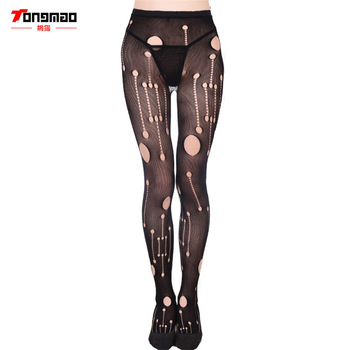 Lady Pantyhose Net Socks Fashion Girls Sexy Tattoo Lace Pattern Jacquard Lace Hollow Lady Lingerie High Elasticity Socks