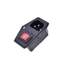 1 шт. вкл/выкл розетка с гнездовой вилкой для шнура питания аркадная машина IO переключатель с предохранителем