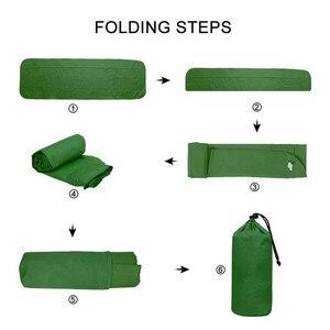 Image 3 - Camping Isomatte Ultraleicht Aufblasbare Schlaf Matte Im Freien Überleben Reise Wandern Camping Pad Bett Luft Sofa Schlafsack