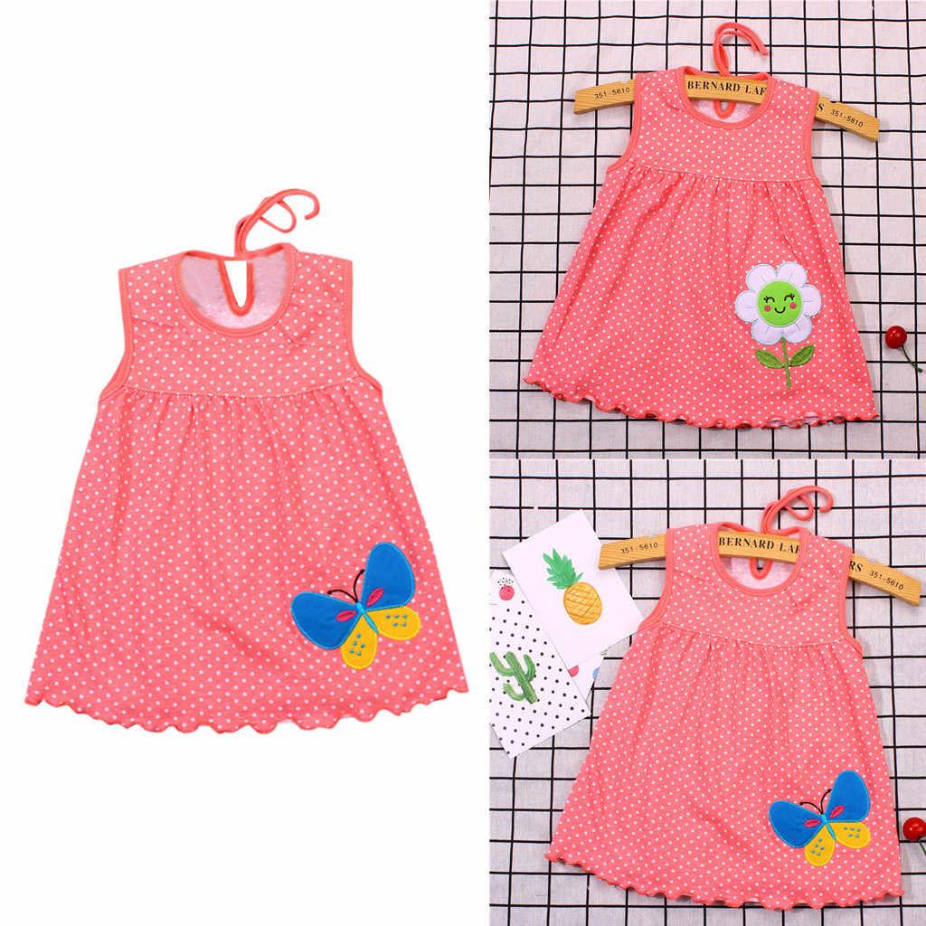 Mädchen Kleid Sommer 2019 Vestidos Cartoon Blume Casual Kleine Prinzessin Kind Kleider für Party Hochzeit Baby Kleidung Kleinkind 19May1