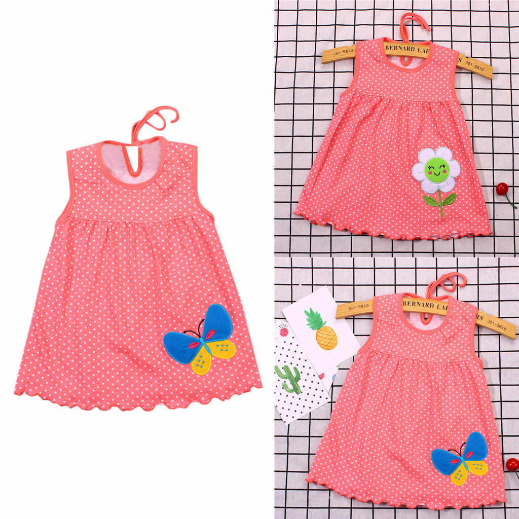 Meninas Vestido de Verão 2019 Vestidos de Flores Dos Desenhos Animados Casual Little Princess Vestidos para Festa De Casamento Roupa Do Bebê Da Criança Do Miúdo 19May1