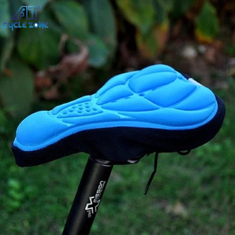 Soft 3D Pad Bicycle MTB Mountain Bike Saddle Cycling Seat Cover Cushion Sponge Foam Saddle Bike Accessories Parts Free Shipping