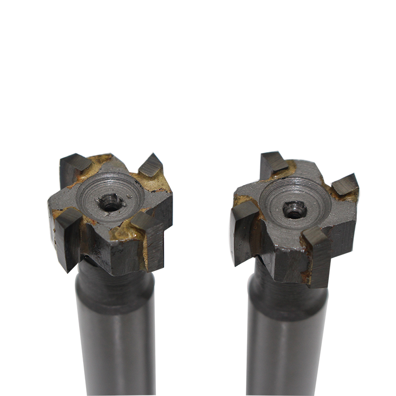 2pcs 16mm * 8mm 4Flute Alloy Straight Shank T-slot Milling Cutters Used In Milling Metal Processing Cnc Milling Machine Tool