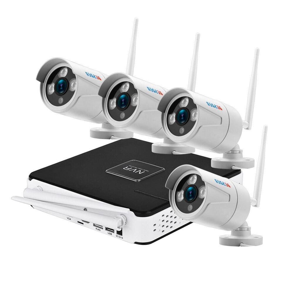 BESDER 960P Plug & Play 4CH CCTV Kit 4pcs 960P Wifi IP Camera Wireless CCTV Security System Outdoor Waterproof 1.3MP IP Camera