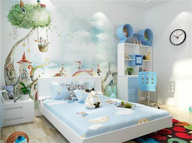 Wallpaper Foto Kustom Anak Mural Ruang Tamu Kecil Gadis Di Ayunan Lukisan Sofa