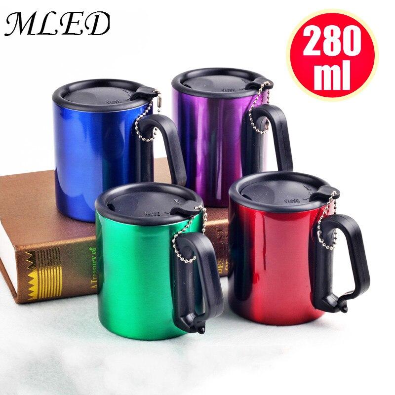280ml Travel Mug Stainless Steel With Lid Handle Coffee
