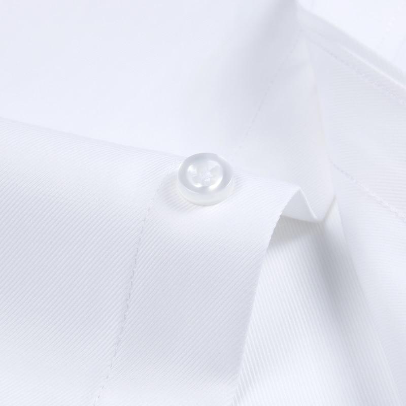 Image 5 - Mens Long Sleeve Standard fit Solid Basic Dress Shirt Patch Single Pocket High quality Formal Social White Work Office Shirtsdress shirtbusiness shirtshirt business -