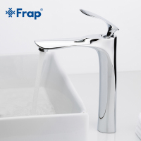 FRAP Basin Faucets Bathroom Faucet Hot and Cold Water Basin Mixer Tap Chrome Brass Toilet Sink Water Heightening Crane Y10093