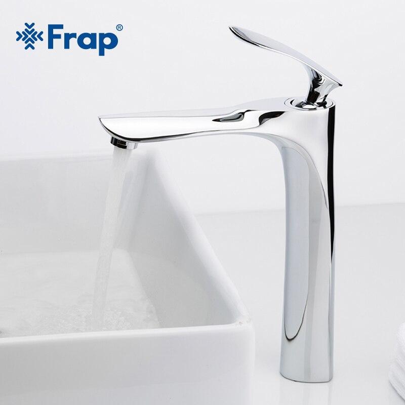 FRAP bassin robinets salle de bain robinet eau chaude et froide bassin mélangeur robinet Chrome laiton toilette évier eau rehausseur grue Y10093