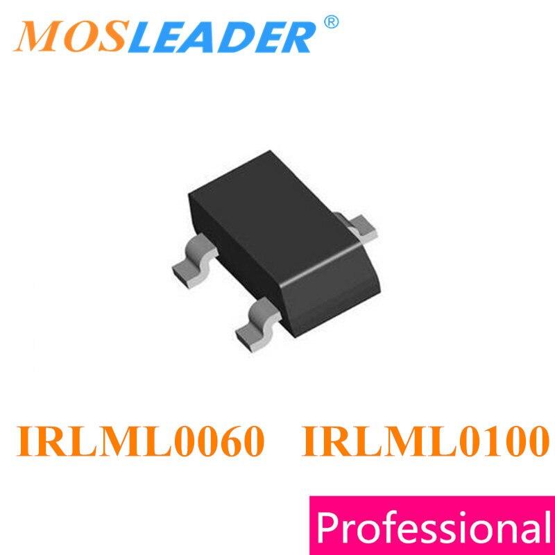 Mosleader IRLML0060 IRLML0100 SOT23 1000PCS 3000PCS IRLML0060TRPBF IRLML0060PBF IRLML0100TRPBF IRLML0100PBF Made in China 50pcs bss139 sot23