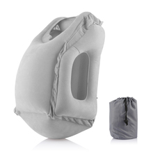 Inflatable Air Pillow Travel Bolster Frontal Comfortable Sleep Plane Car Soft Cushion Trip Foldable Blow Neck