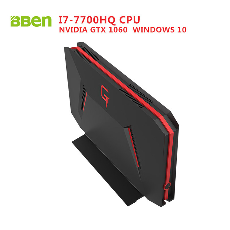 BBEN GB01 Box Gaming Windows 10 Intel I7-7700HQ CPU NVIDIA GTX1060 8G DDR4 Ram 128G SSD NO HDD DP HDMI Wifi BT4.0 Mini Computer видеокарта asus geforce gtx 1060 1620mhz pci e 3 0 6144mb 8208mhz 192 bit dvi hdmi hdcp rog strix gtx1060 o6g gaming