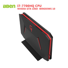 BBEN GB01 Box Gaming Windows 10 Intel I7-7700HQ CPU NVIDIA GTX1060 8G DDR4 Ram 128G SSD NO HDD DP  Wifi BT4.0 Mini Computer