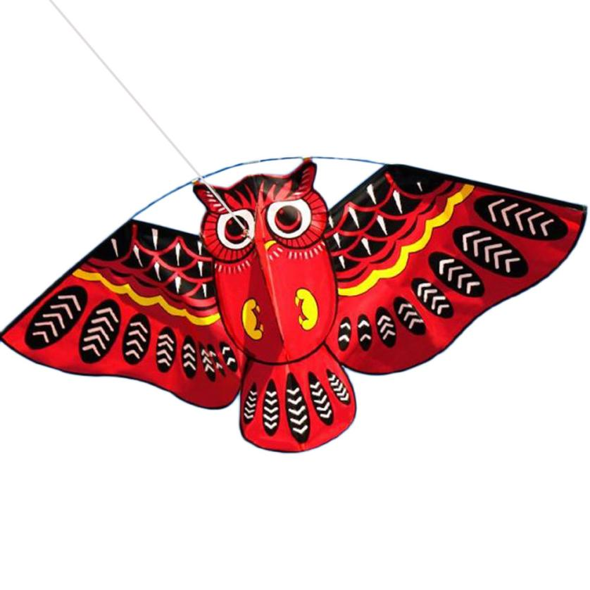 shaunyging # 5009 3D Owl Kite Ids Toy Fun Outdoor Flying Activity Game Children With Tail