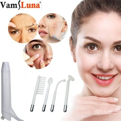 High Frequency Facial Machine Electrode Wand Electrotherapy Glass Tube ightening Acne Spot Wrinkles Remover Beauty Therapy Puffy