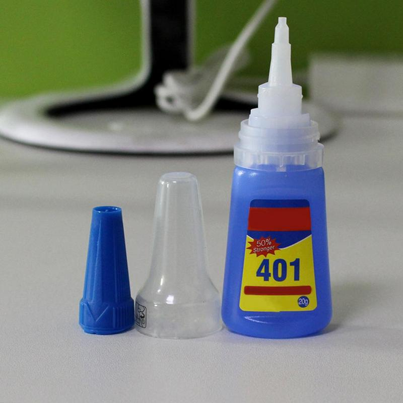 20ML 20g Super Cola 401 Instant Glue Adhesive Adhesive Repair Plastic Bonding Metal Glues Super Universal Low Bleaching Low Odor