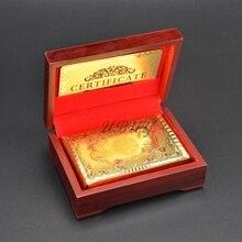 UBUY китайский талисман красочная печать Золотая фольга длинная Фэн Пластиковая Золотая игральная карта для подарка