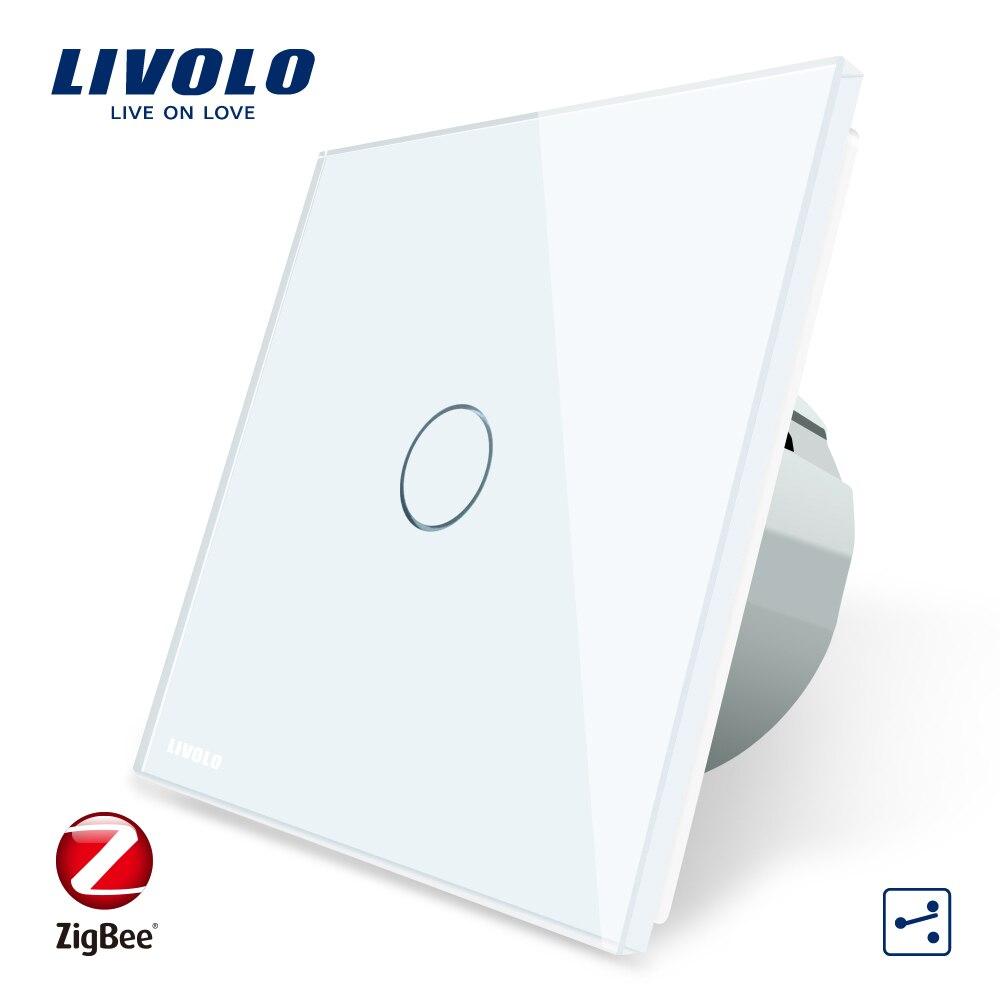 Livolo UE Standard ZigBee SwitchAPP Sans Fil Automatisation Intelligente 2 Façon Contrôle Écran Tactile Interrupteur, c701SZ-1/2/3/5