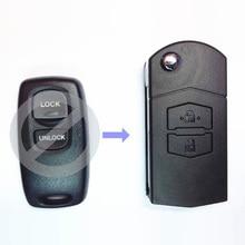 2 Button Flip Key Case Upgrade For Mazda 2 3 6 323 626 Remote Key Fob
