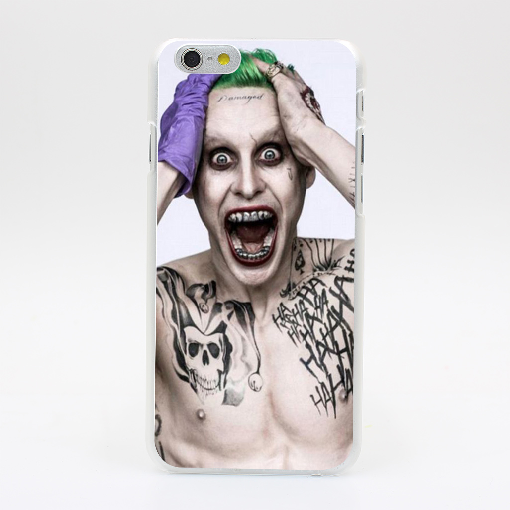 306HK Jared Leto Joker Hard Case Transparent Cover for iPhone 4 4s 5 5s 5c SE 6 6s 7 & Plus